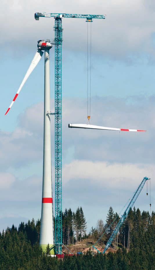 Tower Crane Uses : Enercon uses liebherr tower crane for m wind turbine