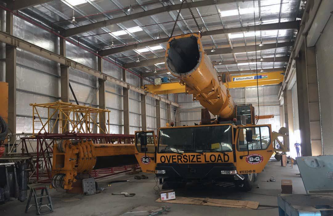 Avezaat's workshop in Dubai - Image - Cranes Today