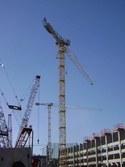 Towers have reduced the need for mobile cranes during the development at the refinery