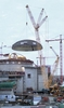 Sarens Terex PC 9600 lifting the containment dome at Olkiluoto