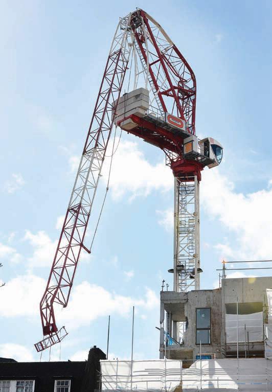 A crane that was bent ...